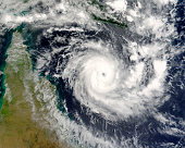 Terra satellite image of tropical cyclone Ingrid in Coral Sea