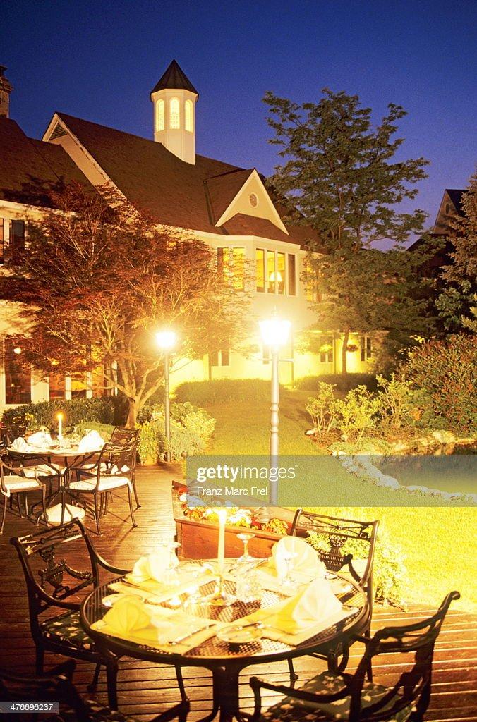 Terrace of Jasmin Restaurant : Stock Photo