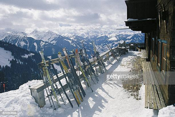 Terrace of the upper station of socalled Bichlalm with view to southwest Kitzbuehel Tyrol Photograph Around 2000 [Die Terrasse der...
