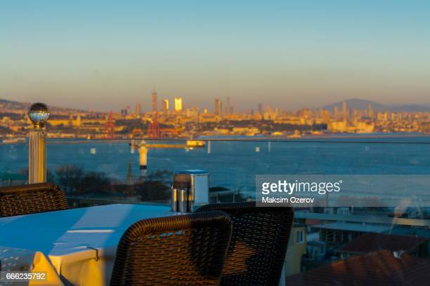 Terrace with a view over Bosphorus