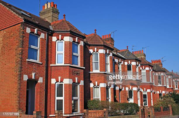 Terraced house stock photos and pictures getty images for 43591 white cap terrace