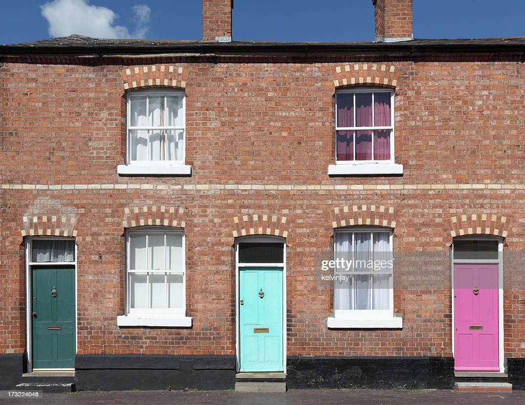 Terraced houses stock photo getty images for Terrace house
