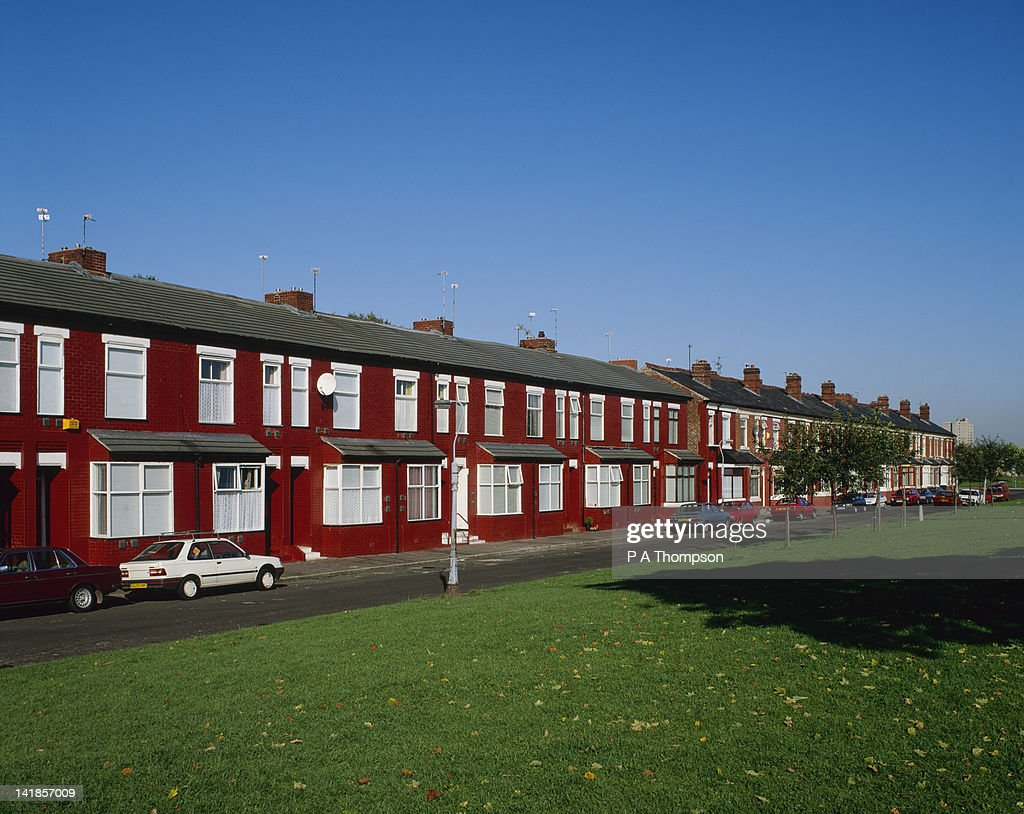 Terraced Housing, Manchester, England : Stock Photo