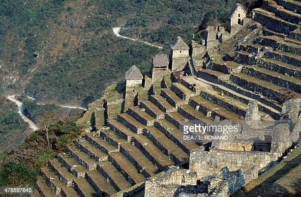 Terraces Machu Picchu Urubamba Valley Peru Inca Civilisation