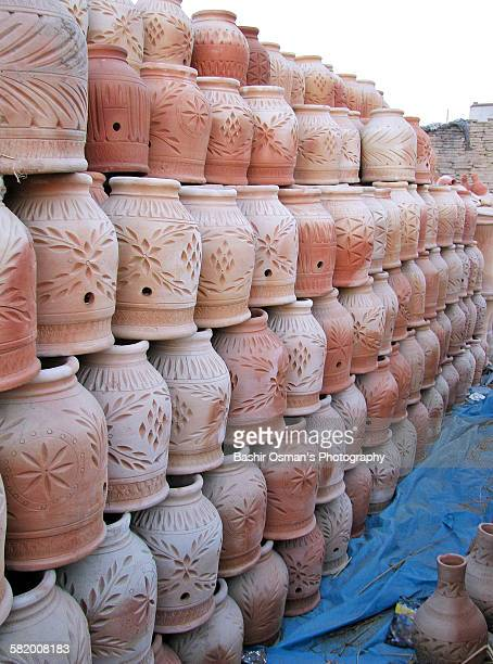 Terracotta clay pottery