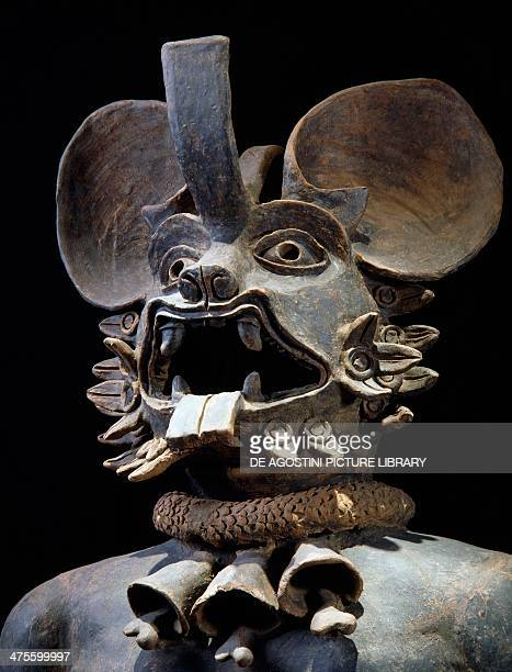Terracotta figurine depicting the Bat God Murcielago Mexico Aztec civilisation 14th16th century Mexico City Museo Del Templo Mayor