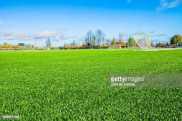 Terrain de Fußball Oberfläche synthétique
