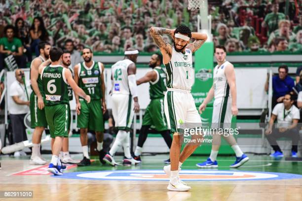Terran Petteway of Nanterre during the Basketball Champions League match between Nanterre 92 and Sidigas Avellino on October 18 2017 in Nanterre...