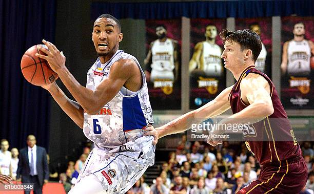 Terrance Ferguson of Adelaide in action during the round two NBL match between the Brisbane Bullets and the Adelaide 36ers on October 16 2016 in...
