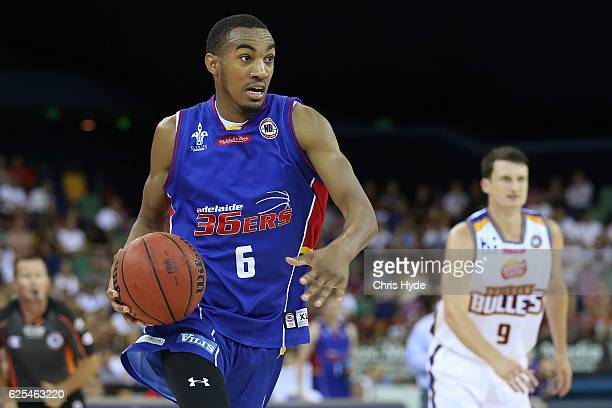 Terrance Ferguson of the 36ers in action during the round eight NBL match between the Brisbane Bullets and the Adelaide 36ers at the Brisbane...