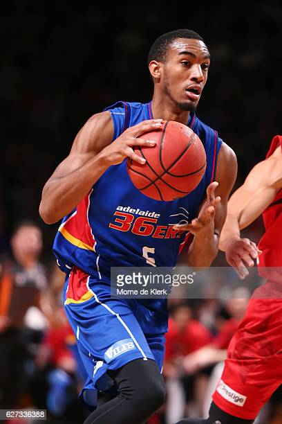 Terrance Ferguson of the Adelaide 36ers brings the ball forward during the round nine NBL match between the Adelaide 36ers and the Perth Wildcats at...