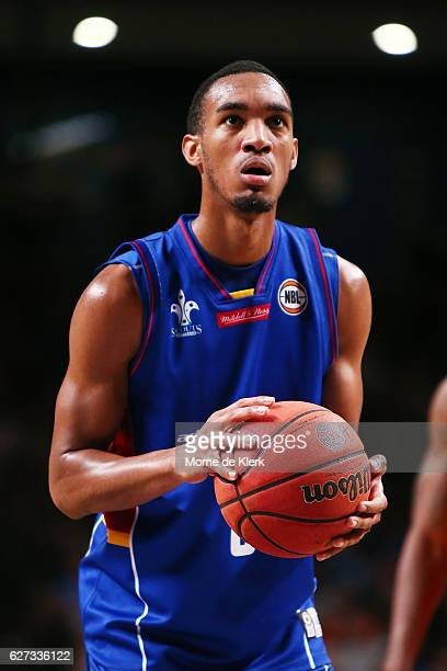 Terrance Ferguson of the Adelaide 36ers prepares to shoot the ball during the round nine NBL match between the Adelaide 36ers and the Perth Wildcats...