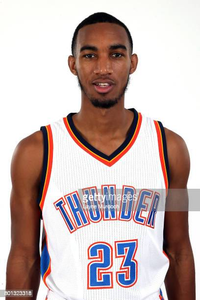 Terrance Ferguson of the Oklahoma City Thunder poses for a head shot after being introduced to the team on June 24 2017 at the CHK Central Boathouse...