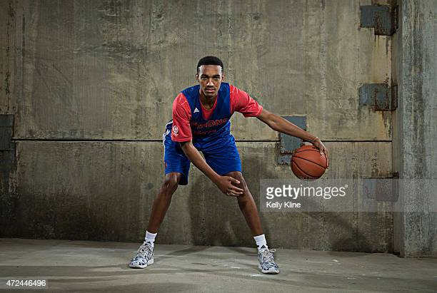 Terrance Ferguson poses for a portrait during Adidas Nations Atlanta on May 1 2015 at the JW Marriott in Atlanta Georgia