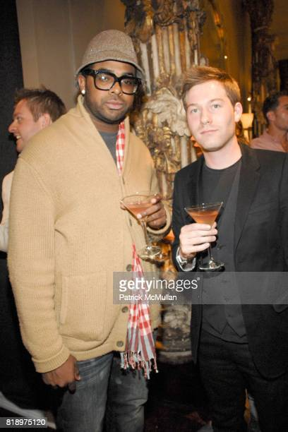 Terrance Stevenson and Jeffrey Lamb attend the Opening and Unveiling of Douglas Friedman's 'Take It Off' Exhibit at Jean de Merry Showroom on May 7th...