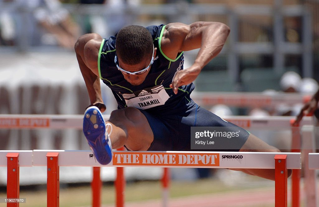 Terrance Trammell won the men's 110-meter high hurdles in 13.11 in the adidas Track Classic at the Home Depot Center in Carson, Calif. on Sunday, May 22, 2005.
