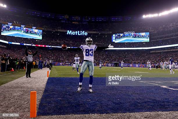 Terrance Williams of the Dallas Cowboys celebrates after scoring a 31 yard touchdown against the New York Giants during the first quarter of the game...