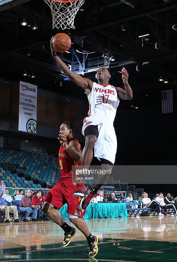 <a gi-track='captionPersonalityLinkClicked' href=/galleries/search?phrase=Terrel+Harris&family=editorial&specificpeople=835465 ng-click='$event.stopPropagation()'>Terrel Harris</a> #17 of the Rio Grande Valley Vipers shoots the ball against the Fort Wayne Mad Ants during the 2013 NBA D-League Showcase on January 9, 2013 at the Reno Events Center in Reno, Nevada.