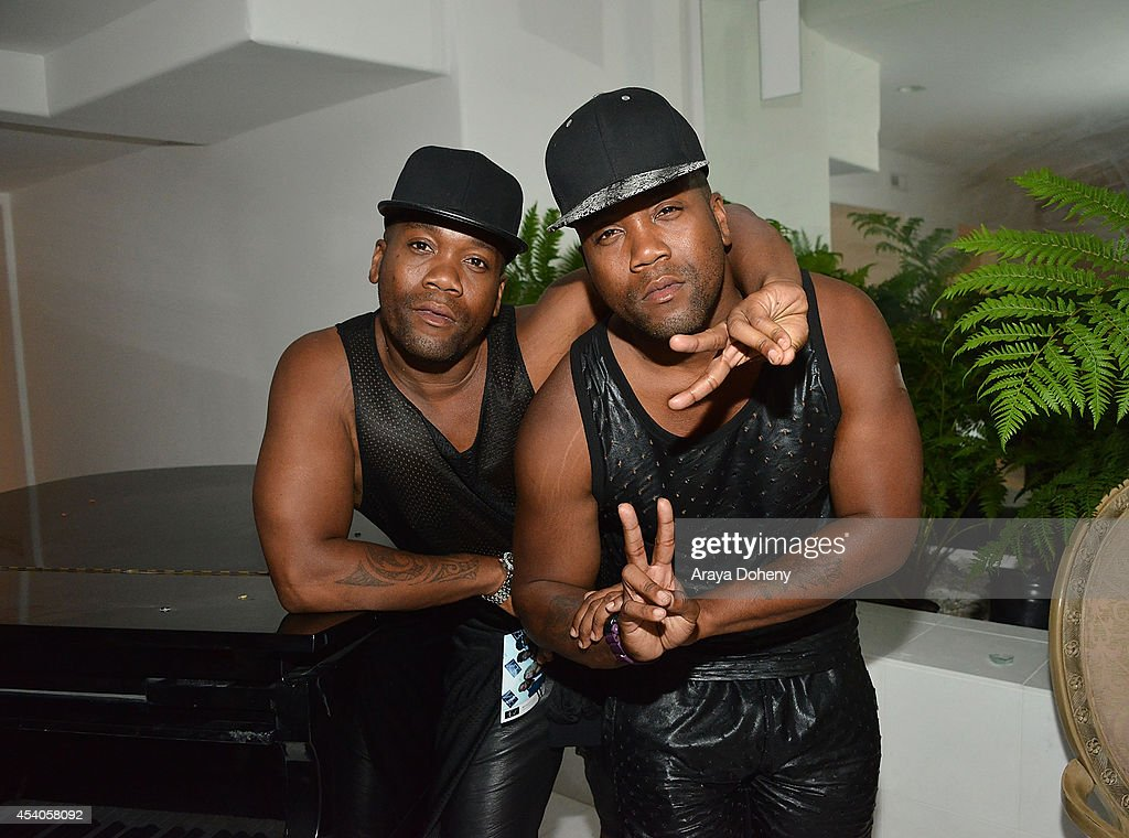 Terrell Brittenum and Derrell Brittenum attend a VMA Pre-Party hosted by Chris Brown & Pia Mia featuring Bera on August 23, 2014 in Los Angeles, California.