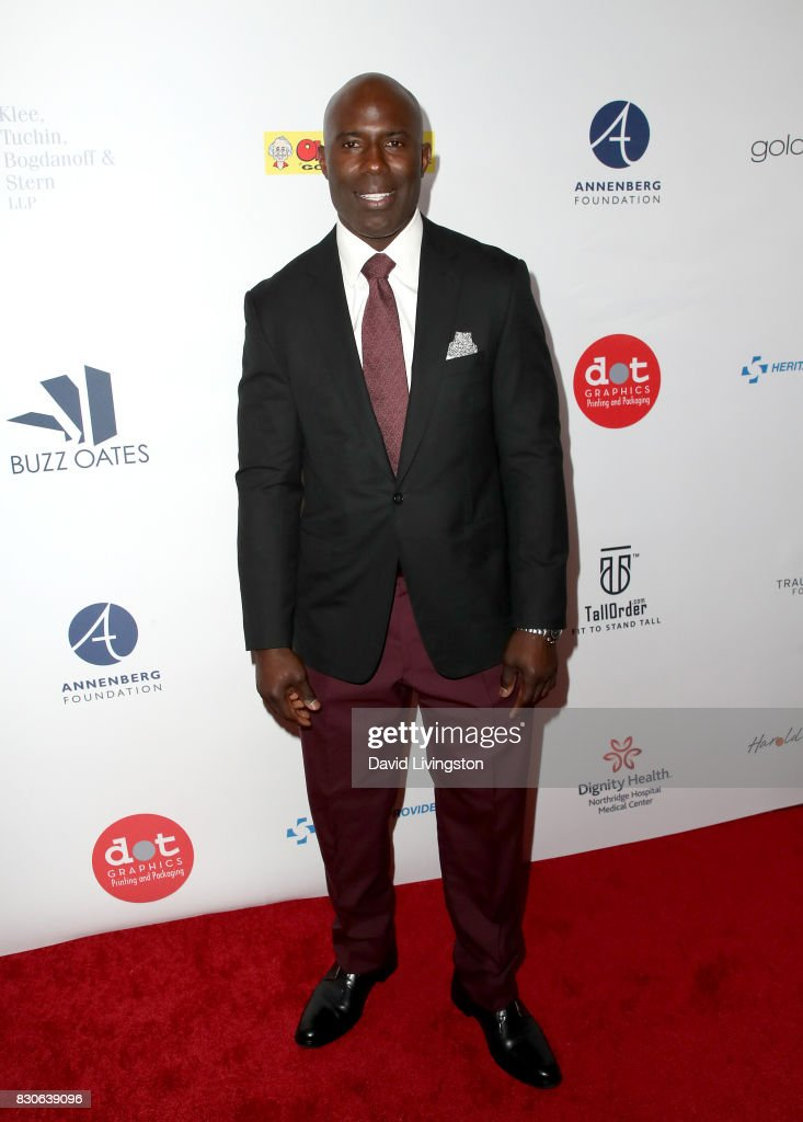 Terrell Davis at the 17th Annual Harold & Carole Pump Foundation Gala at The Beverly Hilton Hotel on August 11, 2017 in Beverly Hills, California.