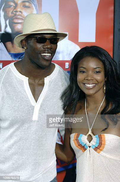 Terrell Owens and Gabrielle Union during The Longest Yard Los Angeles Premiere Arrivals at Grauman's Chinese Theater in Hollywood California United...