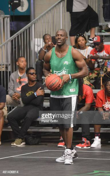 Terrell Owens attend the Sprite Celebrity Basketball Game during the 2014 BET Experience At LA LIVE on June 28 2014 in Los Angeles California