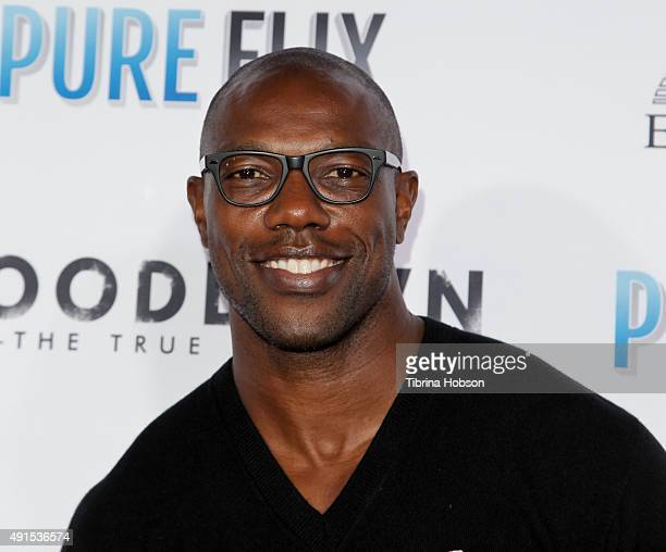 Terrell Owens attends the LA premiere of 'Woodlawn' at Regency Bruin Theater on October 5 2015 in Westwood California
