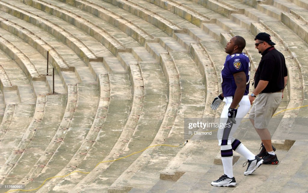 <a gi-track='captionPersonalityLinkClicked' href=/galleries/search?phrase=Terrell+Suggs&family=editorial&specificpeople=215464 ng-click='$event.stopPropagation()'>Terrell Suggs</a>, Ravens during Reebok NFL Players Rookie Premiere Presented by 989 Sports at LA Coliseum in Los Angeles, California, United States.