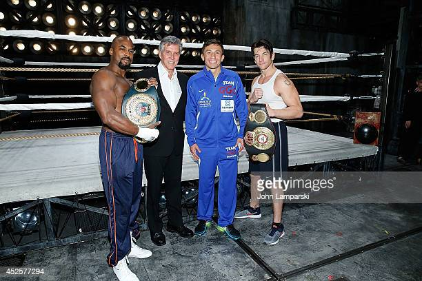 Terrence Archie announcer Michael Buffer World Middleweight Champion Gennady Golovkin and Andy Karl attend Gennady Golovkin Michael Buffer Broadway...