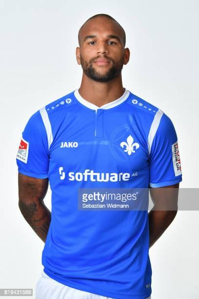 Terrence Boyd of SV Darmstadt 98 poses during the team presentation at MerckStadion am Boellenfalltor on July 20 2017 in Darmstadt Germany