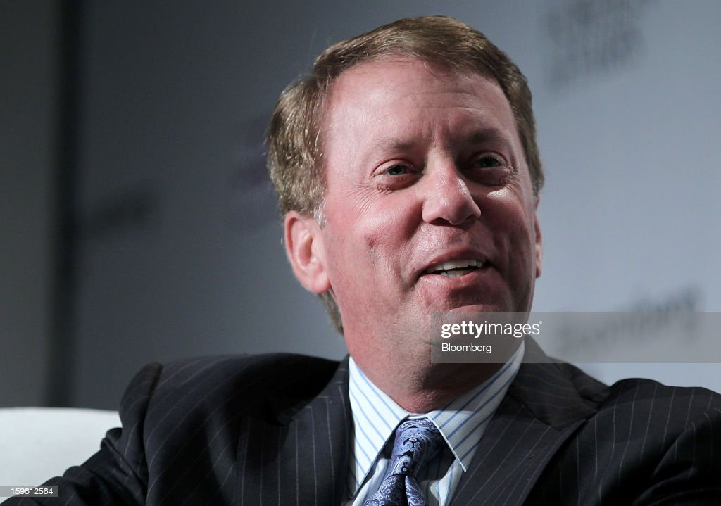 Terrence Duffy, president and executive chairman of CME Group Inc., speaks at the Bloomberg Global Markets Summit in New York, U.S., on Thursday, Jan. 17, 2013. The Bloomberg Global Markets Summit, co-hosted by Foreign Affairs Magazine and Bloomberg LINK, convenes market makers and market movers as investors map their strategy for the year ahead. Photographer: Jin Lee/Bloomberg via Getty Images