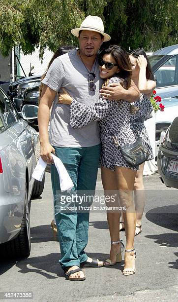 Terrence Howard and Eva Longoria are seen on July 18 2014 in Marbella Spain