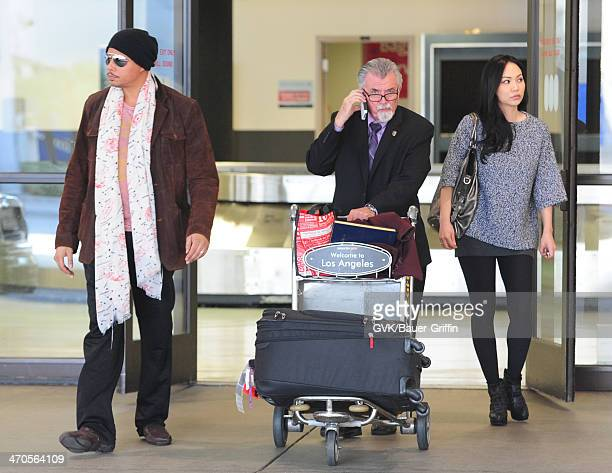 Terrence Howard and Miranda Howard are seen at LAX airport on February 19 2014 in Los Angeles California