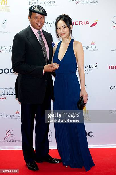 Terrence Howard and Miranda Howard attend Global Gift Gala 2014 at Melia Don Pepe Hotel on July 20 2014 in Marbella Spain