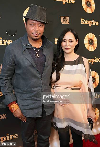 Terrence Howard and Miranda Pak attend the 'Empire' FYC ATAS Event Red Carpet at Zanuck Theater at 20th Century Fox Lot on May 20 2016 in Los Angeles...