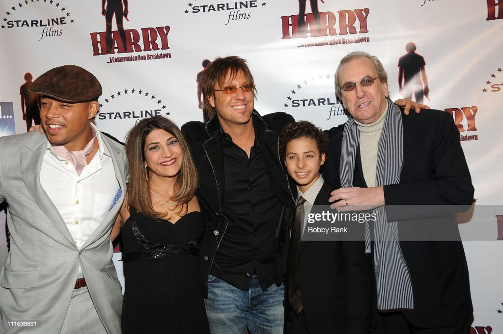 Terrence Howard coproducer Fran Ganguzza director Jon Doscher Hunter Howard and Danny Aiello attend a screening of 'Harry A Communication Breakdown'...