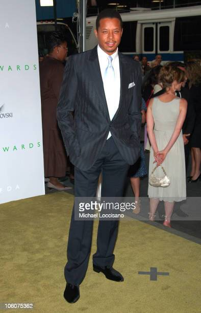 Terrence Howard during 2006 CFDA Awards Arrivals at New York Public Library in New York City New York United States