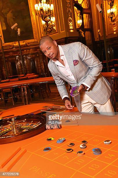 Terrence Howard form the 'Empire' TV Series attends a photo session at the Monaco casino on June 15 2015 in MonteCarlo Monaco