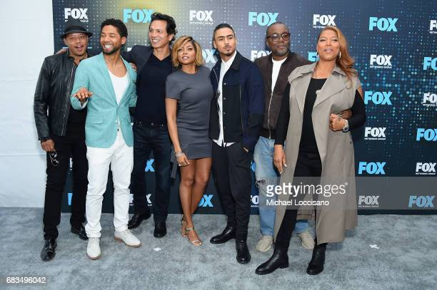 Terrence Howard Jussie Smollet Taraji P Henson Quincy Brown Lee Daniels and Queen Latifah attend the 2017 FOX Upfront at Wollman Rink Central Park on...