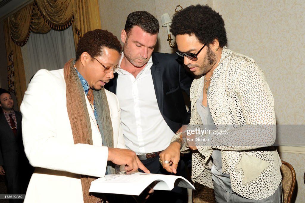 Terrence Howard, Liev Schreiber and Lenny Kravitz attend the press conference for The Weinstein Company's LEE DANIELS' THE BUTLER at Waldorf Astoria Hotel on August 5, 2013 in New York City.