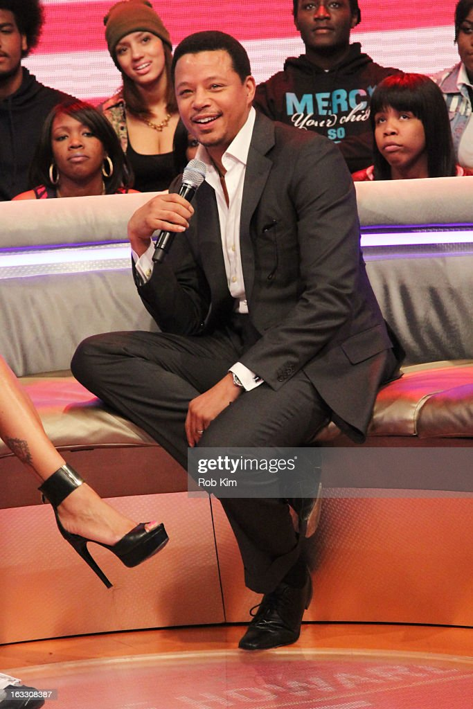 <a gi-track='captionPersonalityLinkClicked' href=/galleries/search?phrase=Terrence+Howard&family=editorial&specificpeople=215196 ng-click='$event.stopPropagation()'>Terrence Howard</a> visits BET's '106 & Park' at BET Studios on March 7, 2013 in New York City.