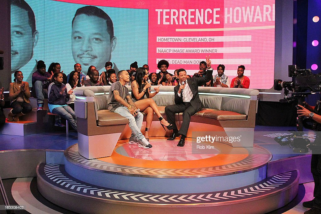 <a gi-track='captionPersonalityLinkClicked' href=/galleries/search?phrase=Terrence+Howard&family=editorial&specificpeople=215196 ng-click='$event.stopPropagation()'>Terrence Howard</a> (R) with hosts <a gi-track='captionPersonalityLinkClicked' href=/galleries/search?phrase=Bow+Wow+-+Rapper&family=editorial&specificpeople=211211 ng-click='$event.stopPropagation()'>Bow Wow</a> and <a gi-track='captionPersonalityLinkClicked' href=/galleries/search?phrase=Kimberly+Paigion+Walker&family=editorial&specificpeople=9802281 ng-click='$event.stopPropagation()'>Kimberly Paigion Walker</a> visit BET's '106 & Park' at BET Studios on March 7, 2013 in New York City.