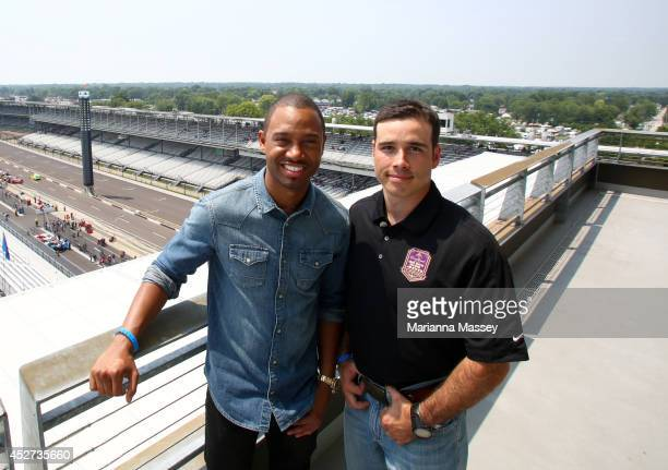 Terrence J and John Wayne Walding attend Indianapolis Motor Speedway John Wayne Walding received the naming rights to Sunday's NASCAR Sprint Cup...