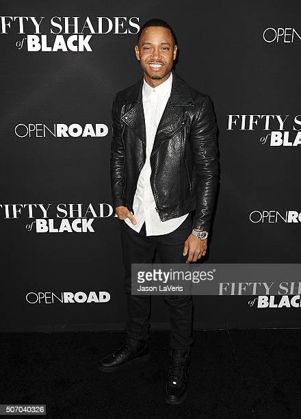 Terrence J attends the premiere of 'Fifty Shades of Black' at Regal Cinemas LA Live on January 26 2016 in Los Angeles California