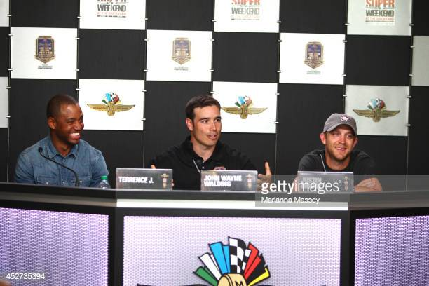 Terrence J John Wayne Walding and Justin Moore interviewed at Indianapolis Motor Speedway John Wayne Walding received the naming rights to Sunday's...