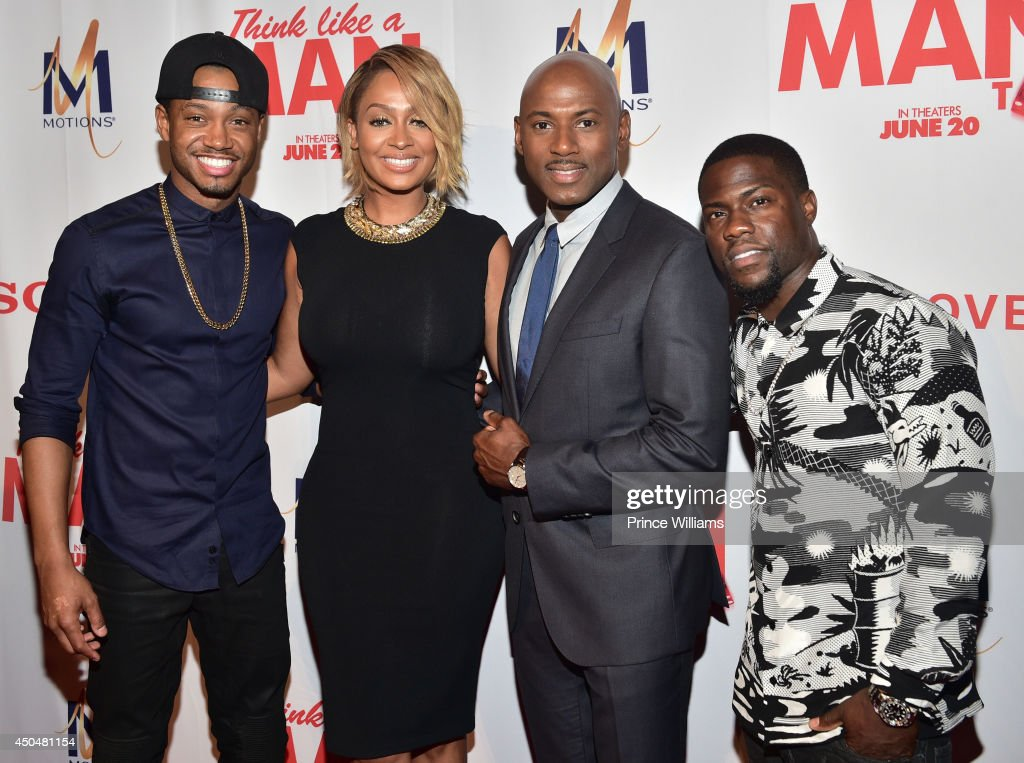 Terrence J, La La Anthony, Romany Malco and Kevin Hart attend the 'Think Like A Man Too' premiere at Regal Cinemas Atlantic Station Stadium 16 on June 11, 2014 in Atlanta, Georgia.