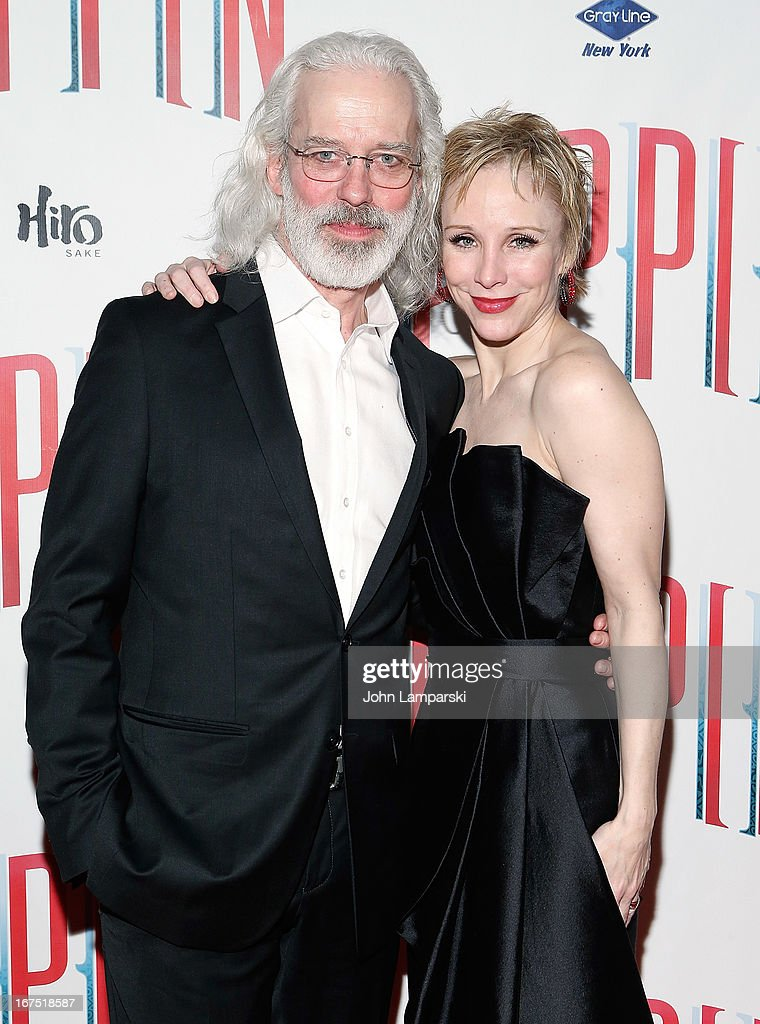 Terrence Mann and <a gi-track='captionPersonalityLinkClicked' href=/galleries/search?phrase=Charlotte+d%27Amboise&family=editorial&specificpeople=3948886 ng-click='$event.stopPropagation()'>Charlotte d'Amboise</a> attends the after party for the Broadway opening night of 'Pippin' at Slate on April 25, 2013 in New York City.