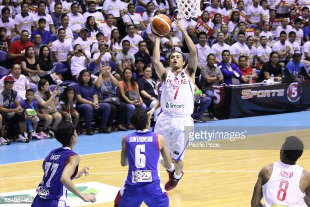 Terrence Romeo of the Philippines soars for an open jumper during their basketball game against Thailand Philippines drubs Thailand 10853 during...