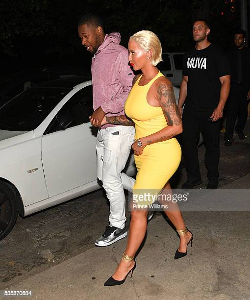 Terrence Ross and Amber Rose attend The Memorial Weekend Affair at Gold Room on May 30 2016 in Atlanta Georgia