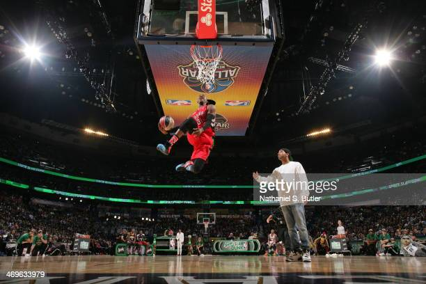 Terrence Ross during the Sprite Slam Dunk Contest on State Farm AllStar Saturday Night as part of the 2014 AllStar Weekend at Smoothie King Center on...